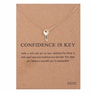 Jewelry - 4 for $25⚡️confidence is key necklace